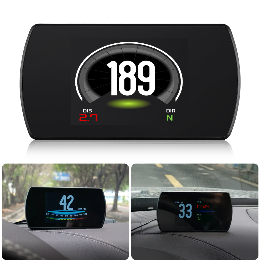 """Image 5 - GEYIREN T800 3.6"""" Screen On board Gps Car HUD GPS Head Up Display MPH Overspeed Warning Windshield Projector auto accessories-in Head-up Display from Automobiles & Motorcycles"""