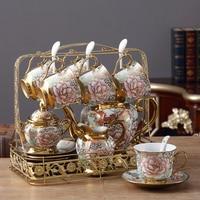 XING KILO European ceramic coffee set living room decoration coffee pot milk jug sugar cup coffee cup luxury wedding gift