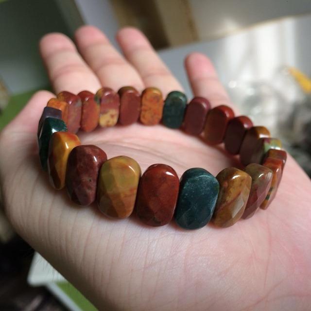Natural Bloodstone Bangle Bracelet