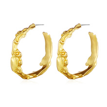 Classic 1 Pair Women Dangler Earrings Fashion Jewelry Gold Color Zinc Alloy Ear Brincos Designer Brand Accessories for Girls