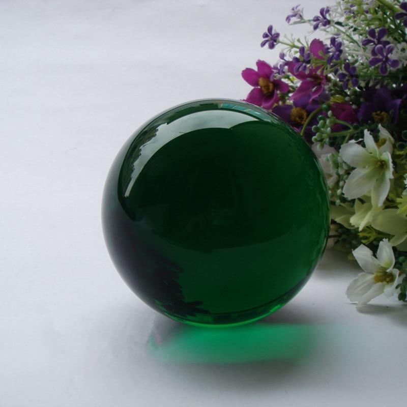 70mm Green Asian Rare Quartz Crystal Glass Obsidian Ball Feng shui Magic Healing Crystals Balls Sphere gemstone Figurines