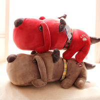 Candice guo plush toy stuffed doll cartoon big head dog puppy funny pillow cushion kid children creative birthday gift present