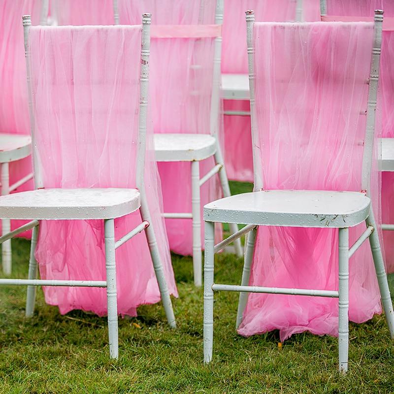Long mesh chair cover chair Wedding banquet hotel dining chair cover covers spandex Chair skirt decoration chair covers dining in Chair Cover from Home Garden