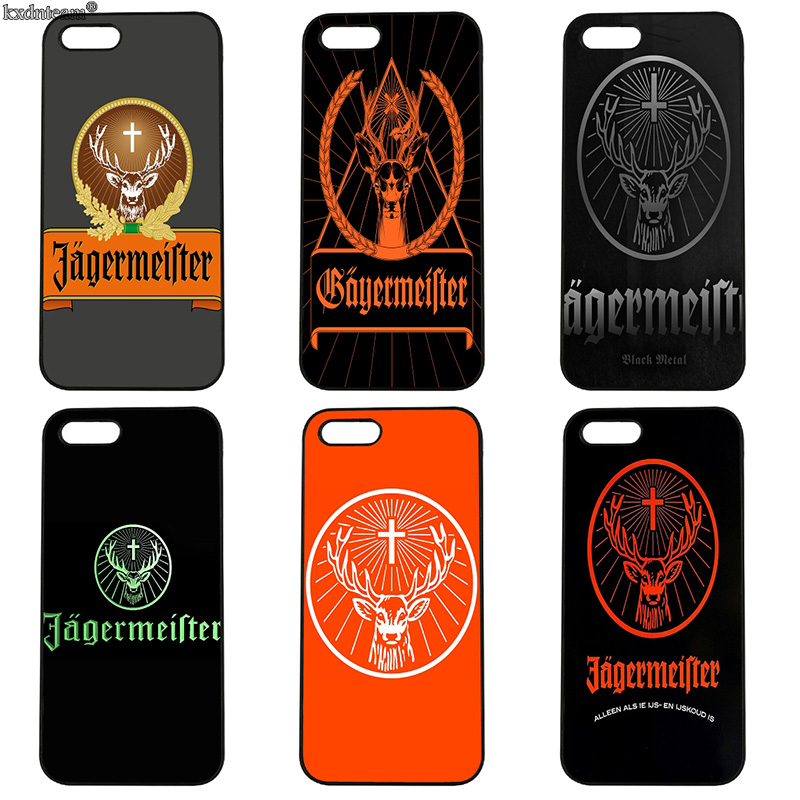 Cool Jagermeister Logo Beer Cell Phone Case Hard Cover Fitted for iphone 8 7 6 6S Plus X 5S 5C 5 SE 4 4S iPod Touch 4 5 6 Shell