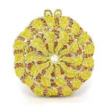 Jede farbe kann angepasst werden Frauen Handtaschen Shinning Schulter gelb Taschen Damen Tag Kupplung Hochzeit Abendtaschen (88306-C)