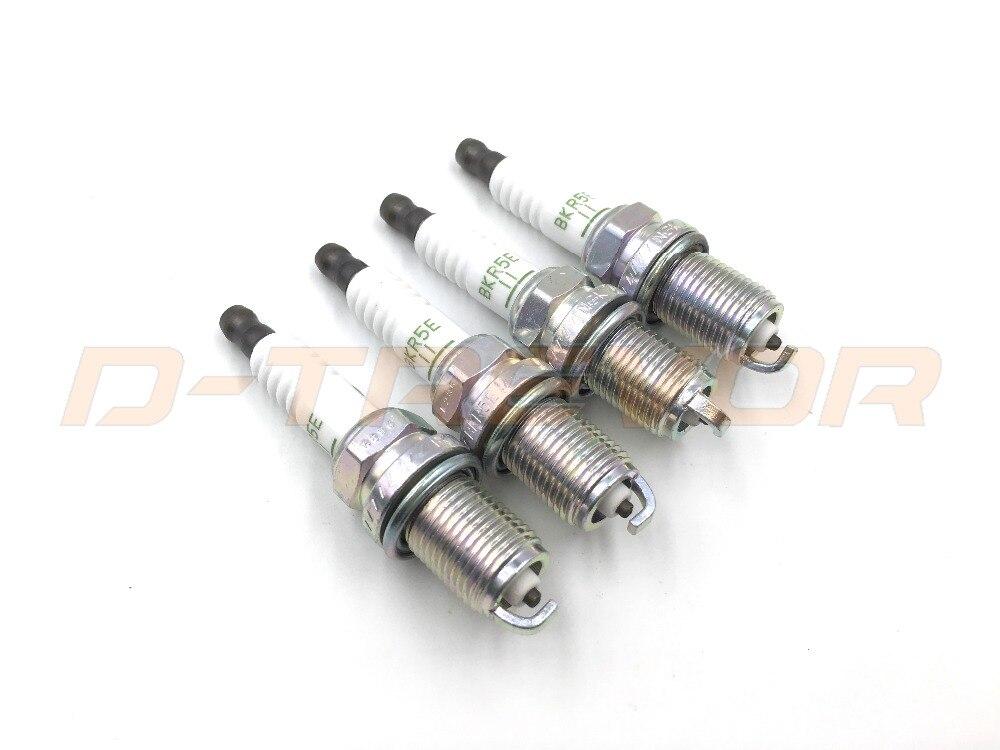 4pcs Brand New BKR5E-11 MS851357 Nickel Alloy Spark Plugs For Mitsubishi Lancer Galant Montero Sport Mirage Eclipse