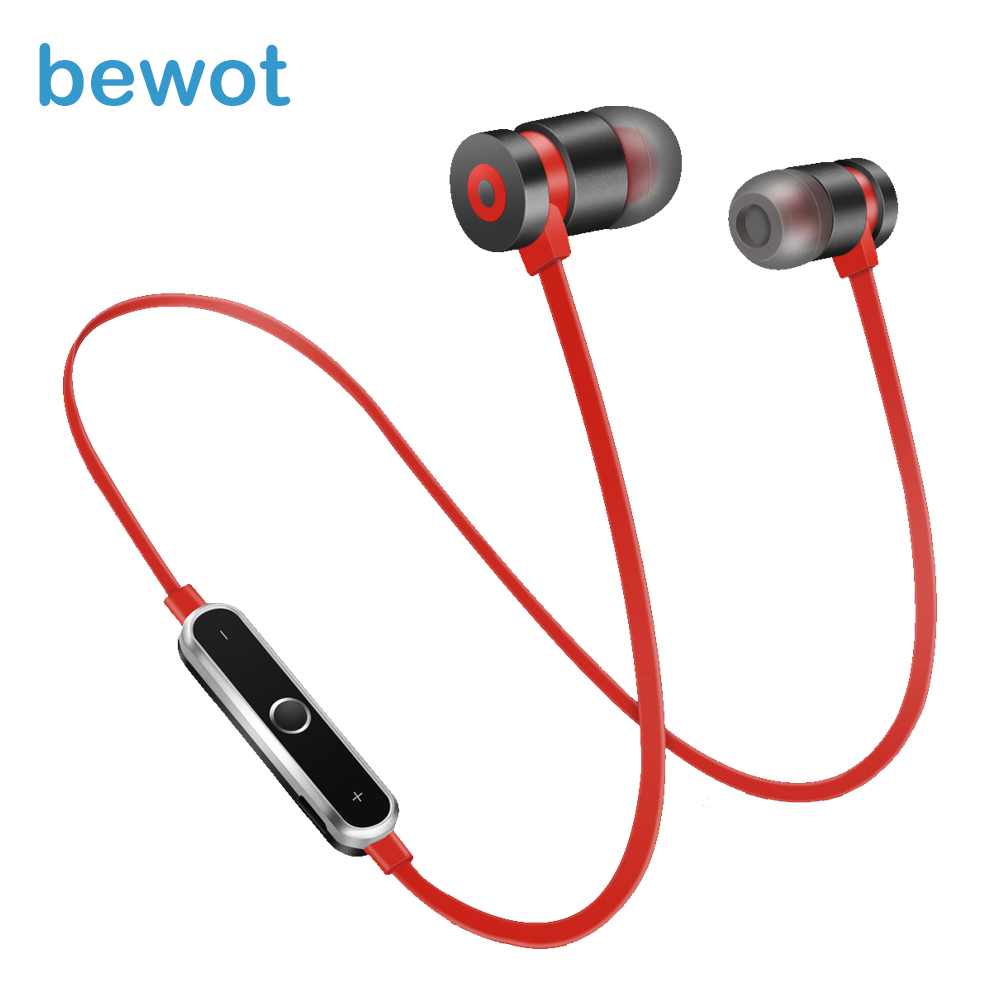 bewot B1 Sports Bluetooth Earphone Wireless Headphone Stereo Bass Earbuds with MIC for Phone Xiaomi Huawei new design earphone bluetooth headset deep bass wireless earbuds magnetic switch with mic for huawei honor 5x