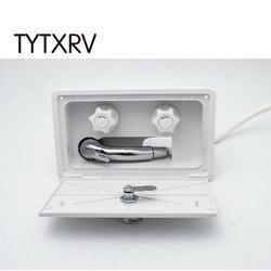 Kit de caja de ducha Exterior RV blanco con candado barco Camper motor caravana accesorios TYTXRV