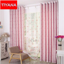 Pink Blackout Curtains For Lovely Girls Cute Bow Pattern Cortinas For Kids  Living Room Bedroom Coffee