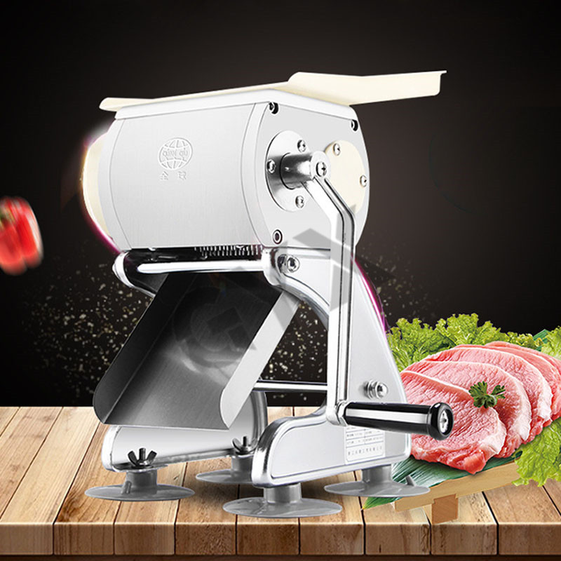Stainless Steel Manual Meat Slicer Adjustable Thickness Chipping Dicing Machine Household Multifunction Meat Vegetables Slicer