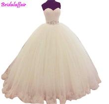 Manicotto Della Protezione Del Merletto di alta Cristallo Belt Sash Volare Ball Gown Abito Da Sposa perla wedding dress