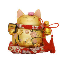 Crafts Arts Home Decoration Matt Abacus Lucky Cat Ornaments Genuine Abacus Lucky Cat Large Ceramic Wedding