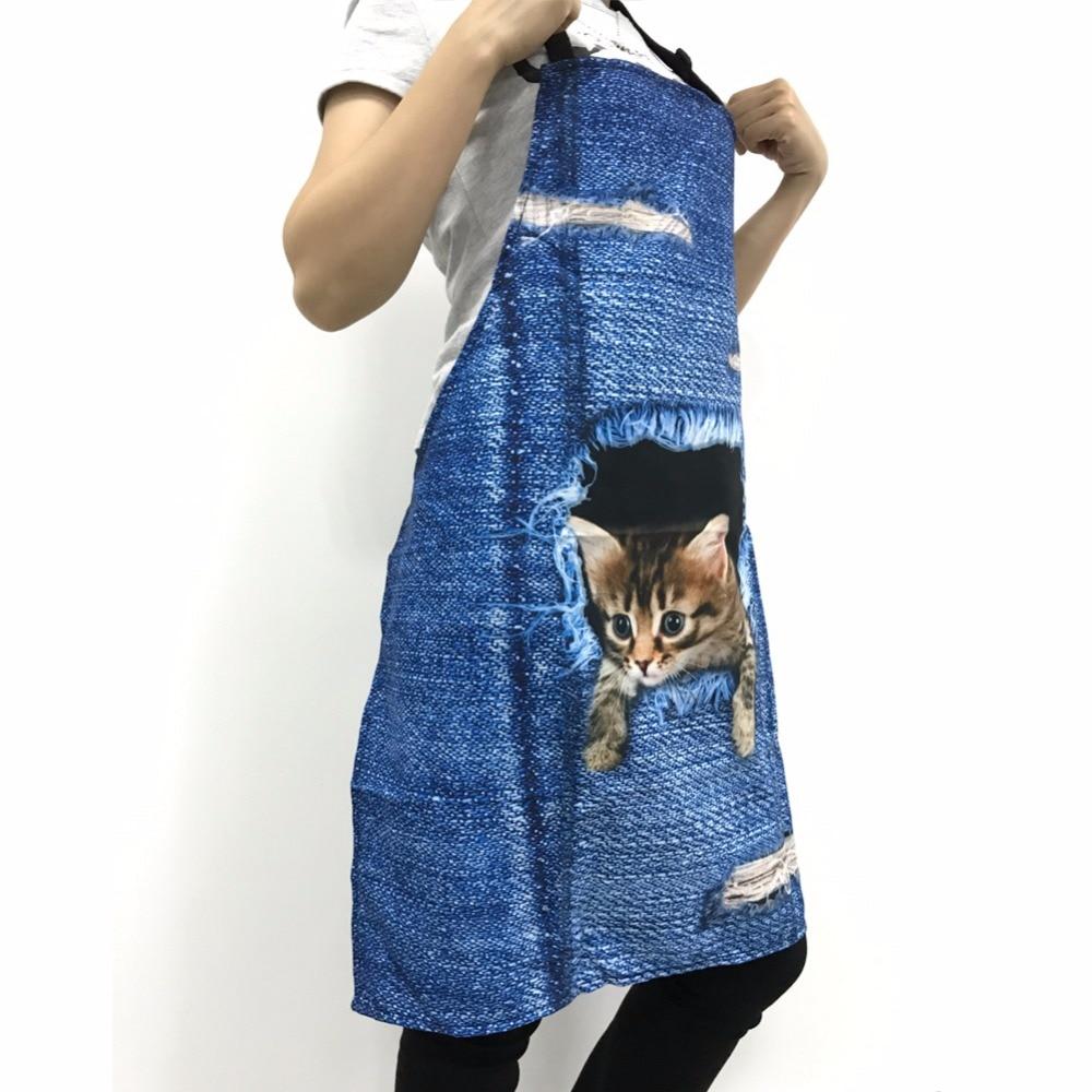 FORUDESIGNS Tablier de Cuisine Animal Print Kitchen Aprons for Woman ...