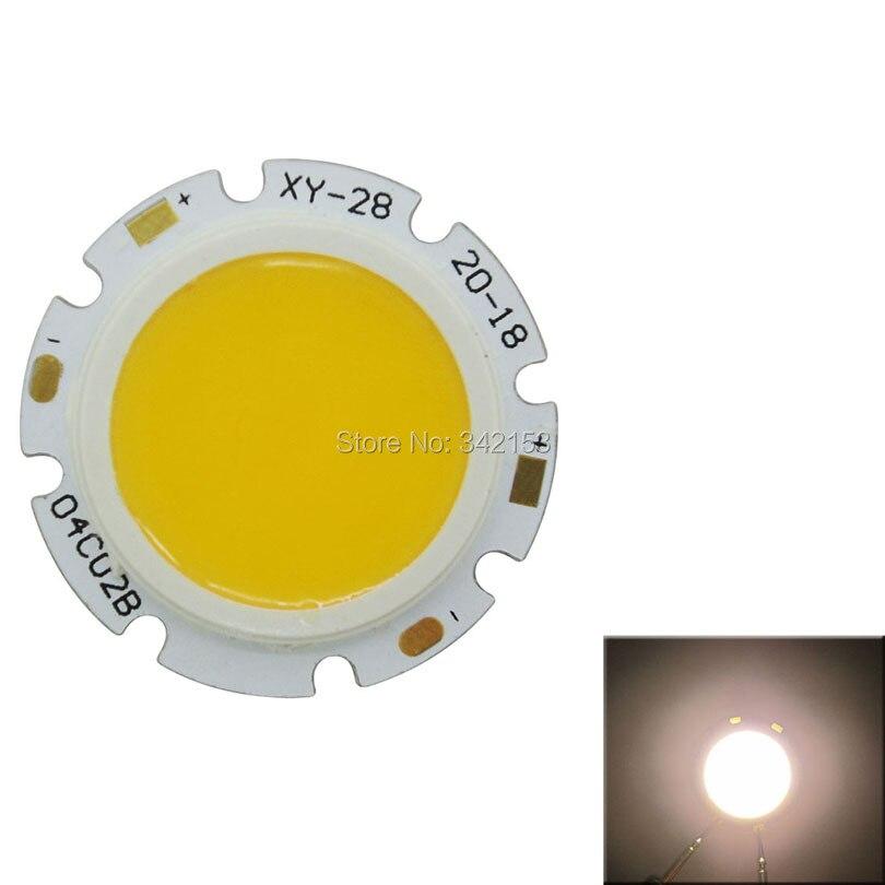 High Power 4W COB Led Emitter Lamp Light Warm White 3000-3500K Cold White 6000-6500K For LED Spotlight Flashlight