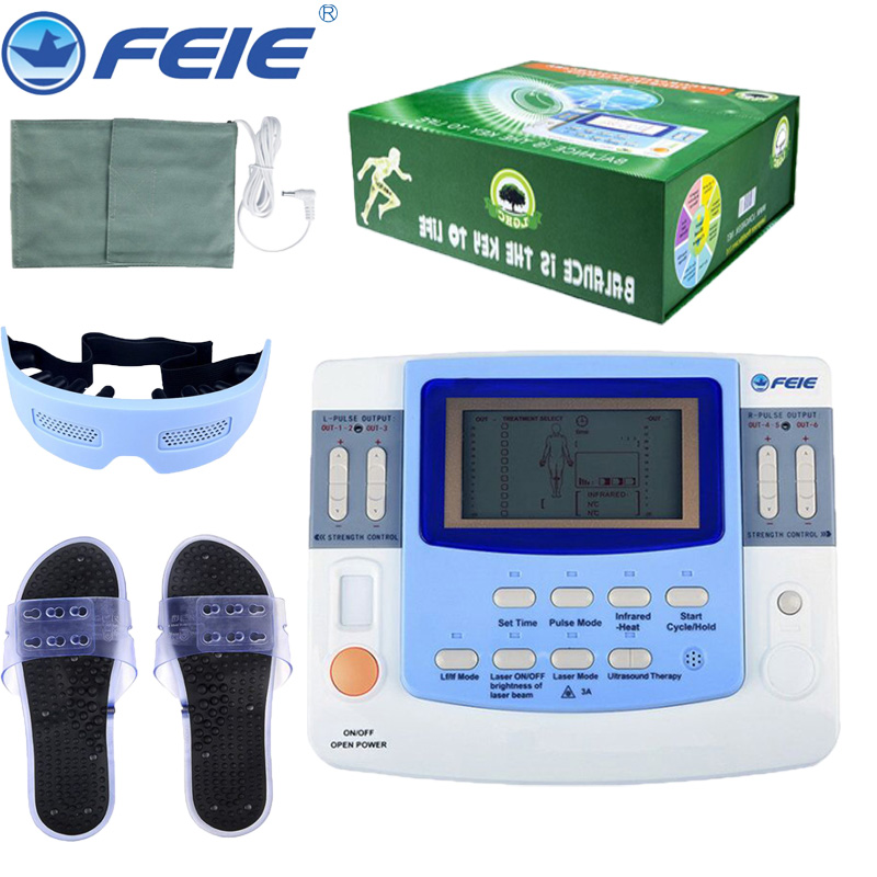 Electronic Pulse Therapy Massager Device Physiotherapy Instrument Ultrasound Digital Health Care EF-29 with Massager Slippers electromagnetic field therapy prostatitis symptoms treatment device help the prostate massager device rehabilitation for mens
