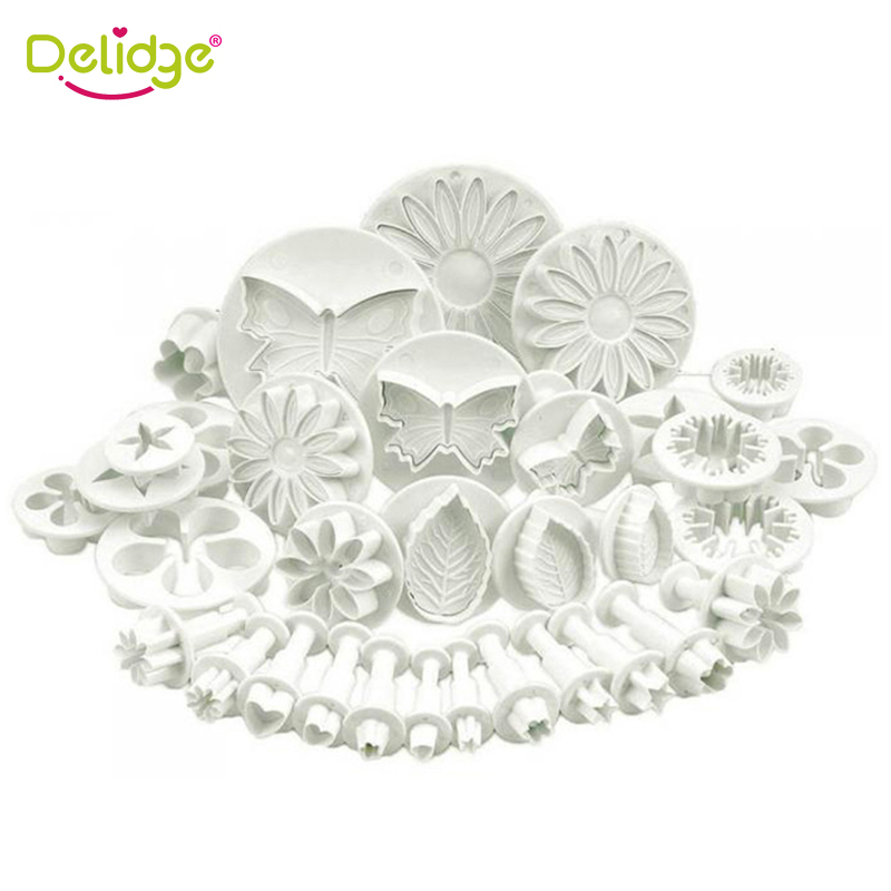 33pcs/set <font><b>Fondant</b></font> <font><b>Cake</b></font> <font><b>Decorating</b></font> <font><b>Tool</b></font> Set <font><b>Fondant</b></font> Plunger Cutters <font><b>Cake</b></font> <font><b>Tools</b></font> Cookie <font><b>Cake</b></font> Mold Kitchen Baking <font><b>Accessories</b></font> image