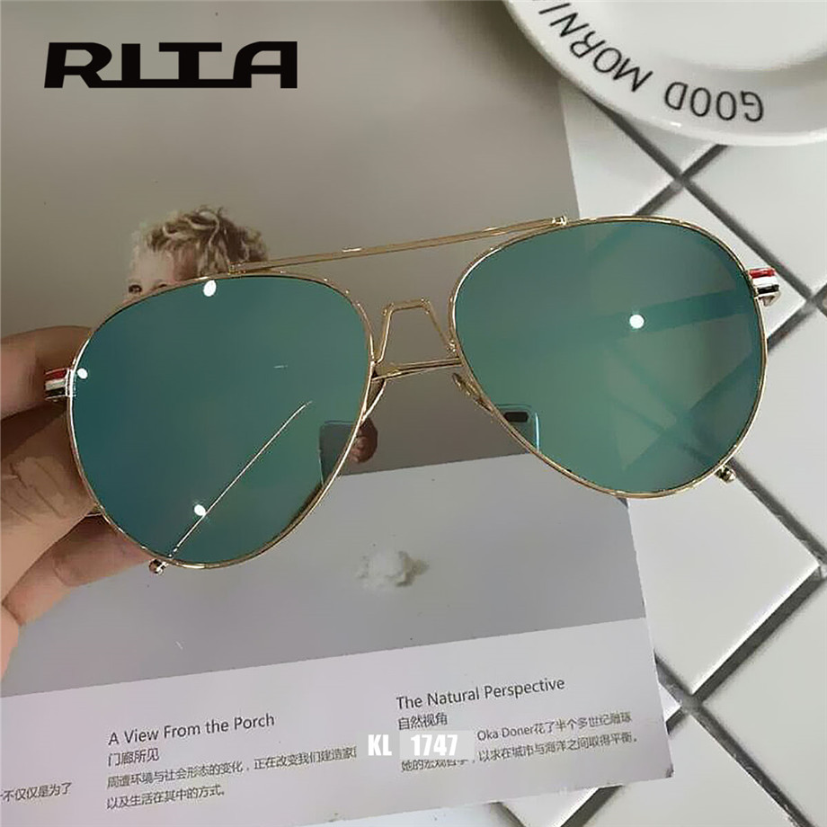 ef2283bce1 2017 TB RITA Grandes oversize gafas de Sol estilo Piloto aviador Mujeres  espejo KL1747 thom browne gafas Hombres gafas de sol clásicas en Gafas de  sol para ...
