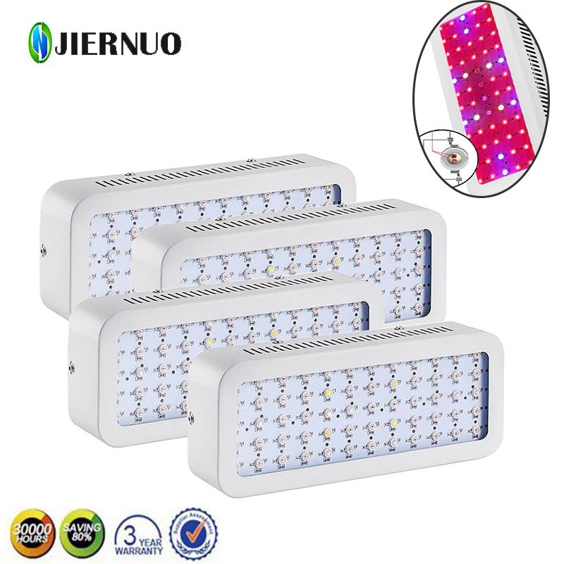 4PCS 600W Mini LED Grow Light Full Spectrum Double Chips Red/Blue/White/UV/IR AC85~265V Led Plant Lamp For Growing Flowering BJ full spectrum double chips 10w epistar 36led ac85 265v red blue warm white white ir uv led grow lights lamp for hydroponic plant