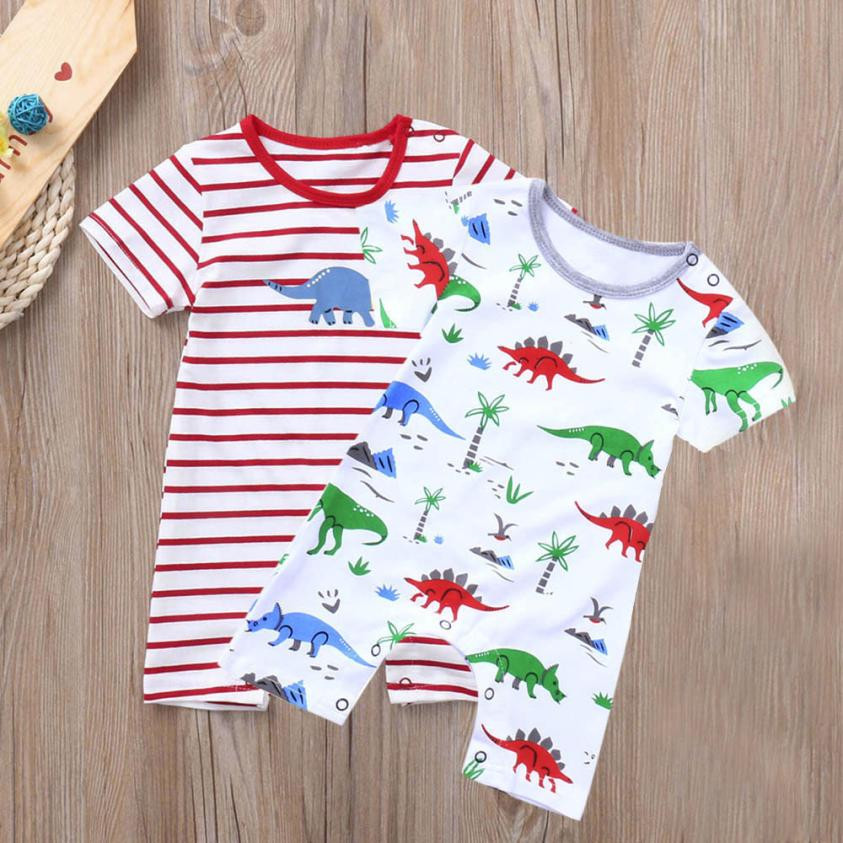 Cute new born baby clothes Kids baby boy romper Dinosaur Boys Girls Outfits Clothes Romper Jumpsuit baby costume 2018