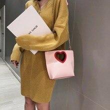 High quality ladies pu women's bag soft leather ladies bag fashion love ladies shoulder bag large casual chain handbag цена и фото