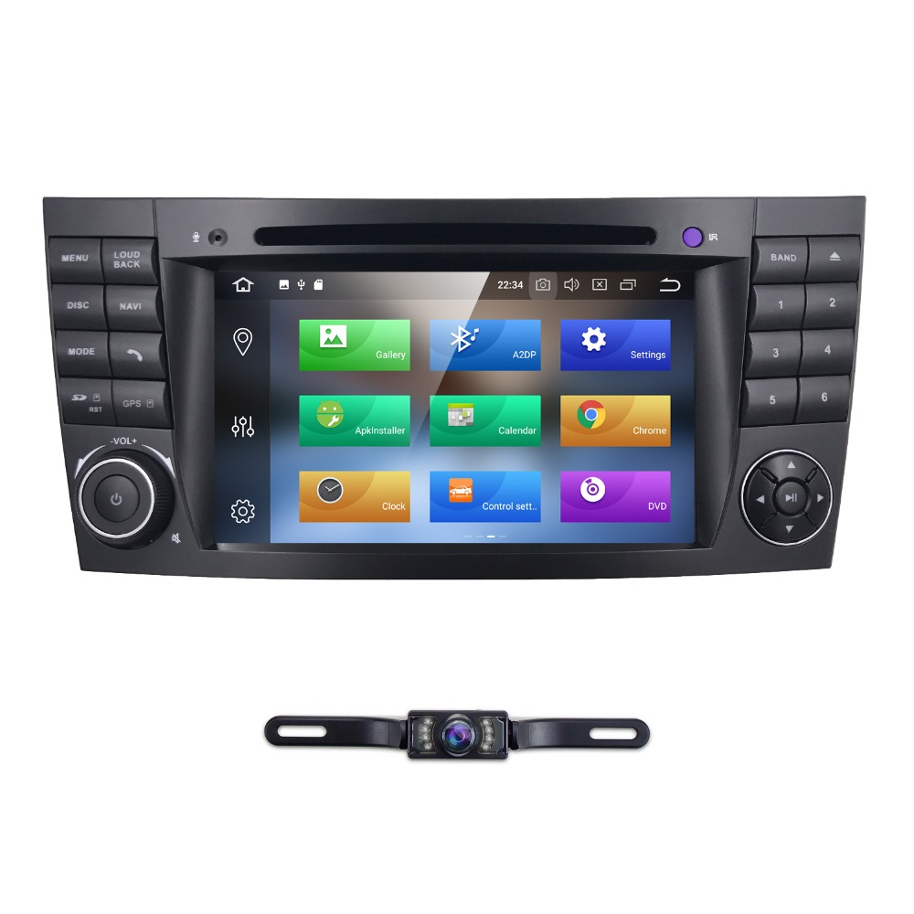 2 din car radio gps android 8 0 for mercedes w211 w219. Black Bedroom Furniture Sets. Home Design Ideas