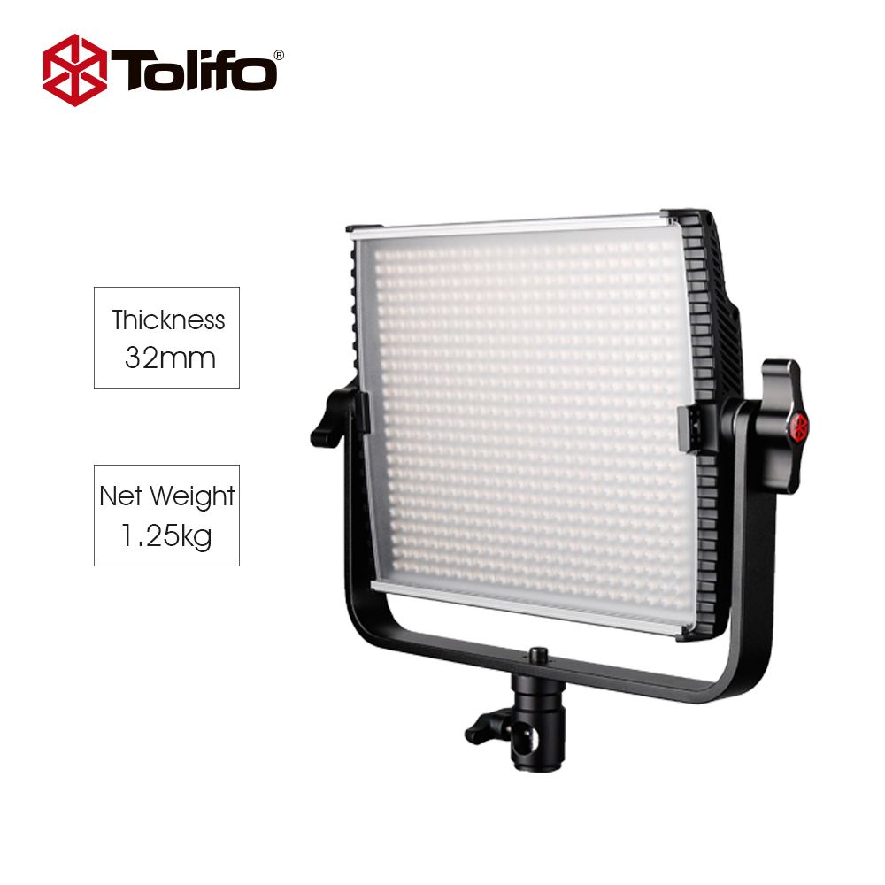 Tolifo GK-600MB Bi-color Temperature 2.4G Wireless Remote Control LED Studio Light with Barndoor for Photography and Interview