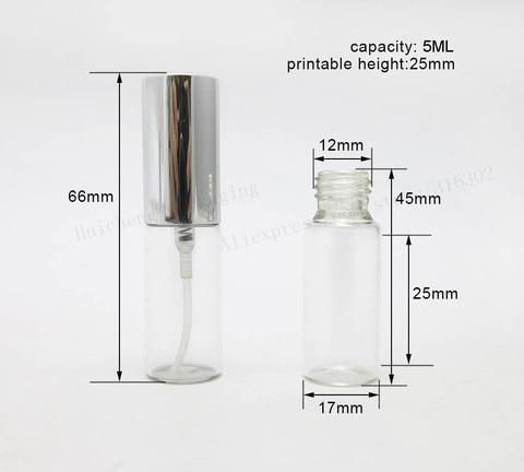 atomizador de vidro de aluminio da amostra