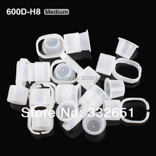 CHUSE 10pcs Medium Size Ink Holder Rings Permanent Makeup Easy Ring Ink Container/Cups Cap Supply