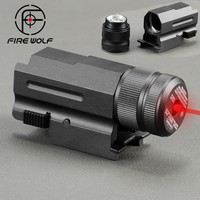 Mini Compact Red Green Laser Sight New For 20mm Rail Pistol Rifle Glock 17 20 23 21 Hunting Laser Collimator