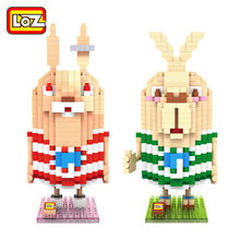 Prison Break rabbit small particles diamond blocks Loz building blocks iblockfun mini figures cartoon toys for children kids