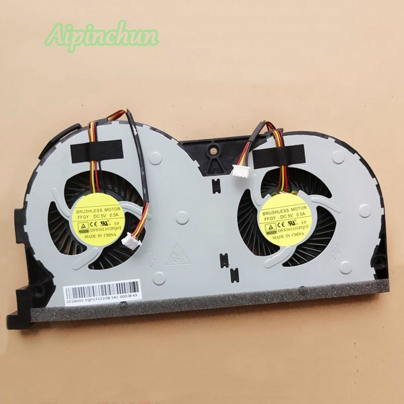 New Original CPU Cooling Fan For <font><b>Lenovo</b></font> Y50-70AS Y50-70AM Y50 Y50-<font><b>50</b></font> Y50-<font><b>70</b></font> Y50-70AS-ISE Notebook Cooler DFS501105PQ0T FFGY image