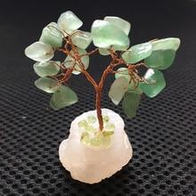 56mm natural quartz crystal handmade lucky tree reiki healing family feng shui decorative art collection