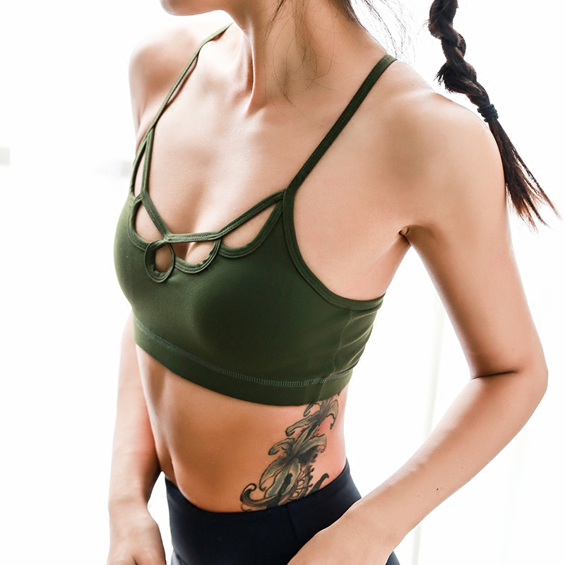 19e1428caa7b8 Oyoo Olive Padded Sports Bra for Women Y Back Sexy Bralette