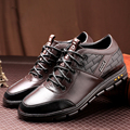GTIME 2017 New Men's Casual Elevator Shoe,Spring Fashion Style Men Shoes,Male PU Leather Flat,Plus Size Drop Shipping #GU377