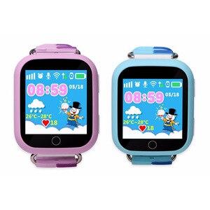 Image 2 - 2019 chaud GW200S Q100 Kid montre intelligente GPS Wifi positionnement SOS Tracker bébé moniteur de sécurité Smartwatch pk Q90 Q50 Q528 Q750 montres
