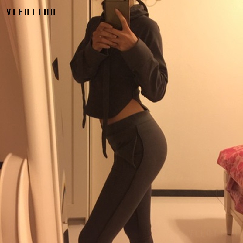 2019 New Sexy women tracksuit Long sleeve Asymmetry Slim 2piece set Pants +Hoodie Set Spring autumn Casual