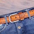 Catelles унисекс кожаный ремень для джинсов шпильки пояса случайные джинсовой италия полный зерна кожи хорошего качества пояс для мужчин и женщин