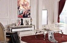 Дизайн дешевой цене качество роскошь пятно Сталь жизни Мебель комплект/чайный стол/телевизора/столик /обеденный стол/6 шт. стулья