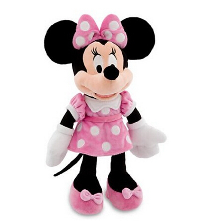Original Minnie Mouse Toys 48cm 19'' Minnie Pink Stuffed Animals Pelucia Mickey Mouse Girl Friend Minnie Plush Toys for Children 12pcs hair accessories mickey minnie mouse ears solid black sequins headbands headwear for boy girl birthday party celebration