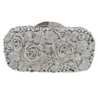 Factory Directly Wholesale Full Crystals Women Day Evening Party Clutches Cross Body Hot Fix Long Chain