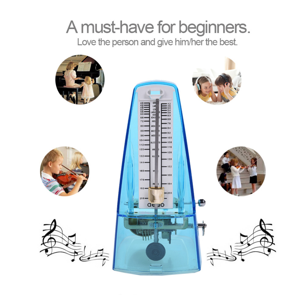 Double Color Mechanical Metronome for Piano Guitar Bass Violin and Other More Musical Instruments 40-210 BMP Use Plastic+Metal adam perlmutter piano for dummies