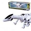 Venta caliente Modelo Animal Juguetes de Dinosaurios Eléctrica Modelos Música Eléctrica de Juguete Juguetes de Los Niños Para El Muchacho Dinosaurio Robot A082