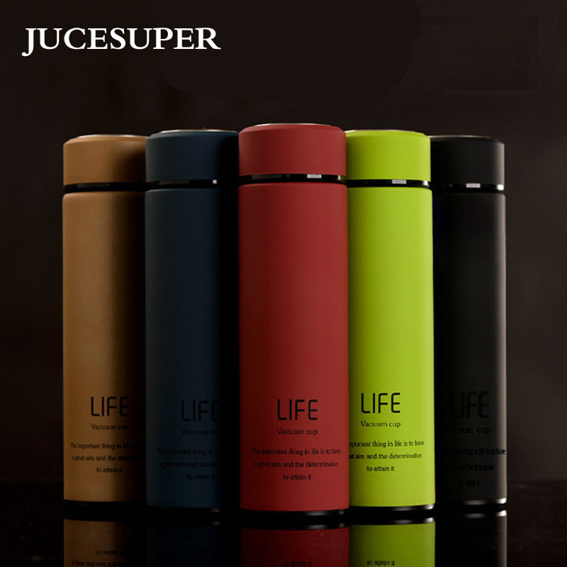 High Quality Fashion Stainless Steel Water Bottles Insulated Water Bottle 400ml Sport Shatterproof Matte Surface Multiple