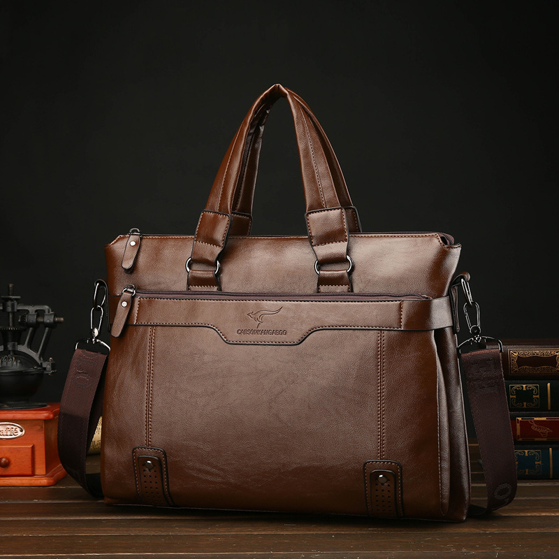 New Handbag To Work In An Office Package Single Shoulder Messenger Bag Men Leather Leatherwear Briefcase Designer Luxury Purses