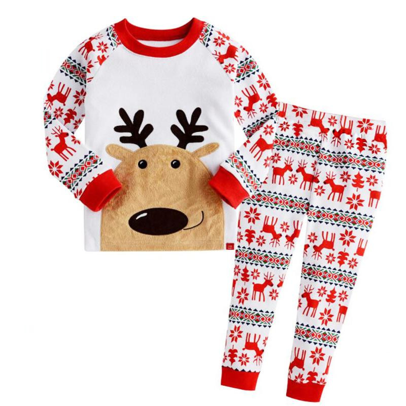 1Set Infant Baby Boys Girls Christmas Deer T-shirt Tops+Pants Outfits Clothes Cotton kids clothes girls boys baby 3#1 MUQGEW 2pcs baby kids girls rabbit bunny green cotton t shirt tops dots denim bib overalls skirts outfit clothes 1 5y