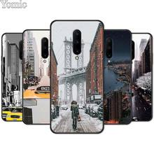 New York City Times Square Taxi Silicone Phone Case for Oneplus 7 7 Pro 6 6T 5T Soft Cover Shell for Oneplus 7 7Pro Black Case