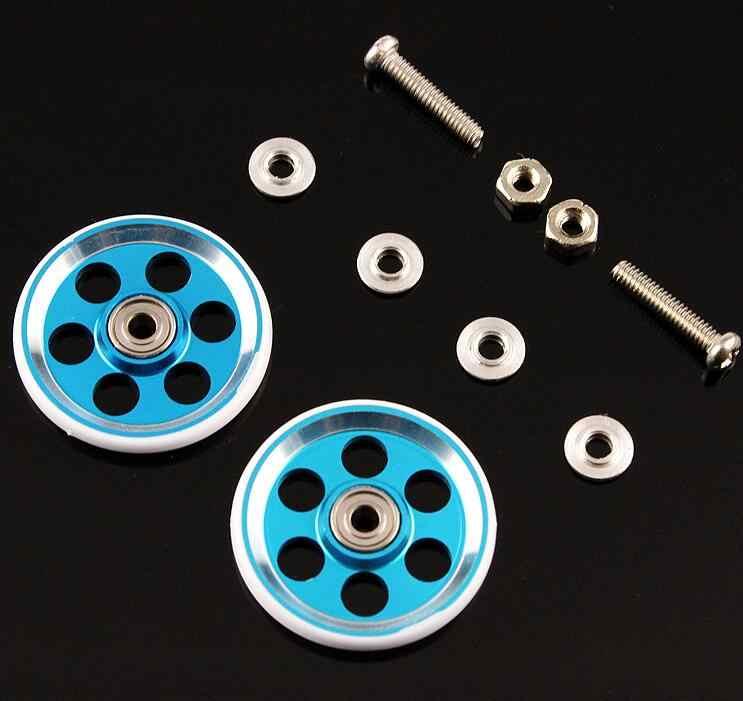 2 Pairs 19mm Guide Roller for Tamiya Mini 4WD Racing Car Model Aluminum