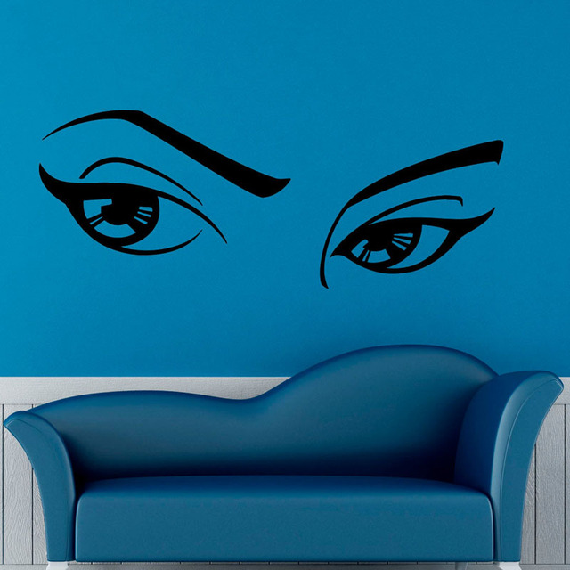 Aliexpresscom Buy Sexy Lady Hot Eyes Wall Decals Beautiful - Vinyl stickers designaliexpresscombuy eyes new design vinyl wall stickers eye wall