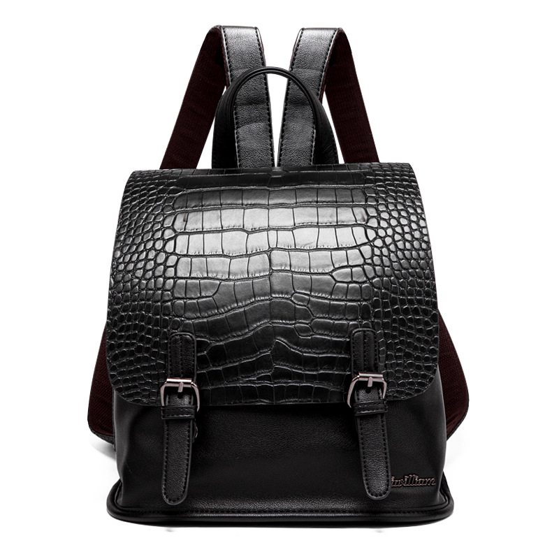 Women Famous brand designer backpack Luxury pu leather backpacks small Girl School Bag Ladies Handle crocodile pattern backpacks luxury fashion retro pu leather famous brand women backpack american style ladies dark green bag college student school bags