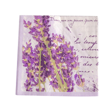 1pack 20pcs Lavender theme napkin 2-ply napkin paper for wedding decoupage flower napkins decoupage serviettes 33x33cm цена и фото